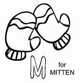 Mittens Coloring Pages Mitten Getdrawings Drawing sketch template