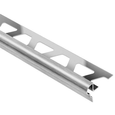 schluter trep fl brushed stainless steel 7 16 in x 4 ft