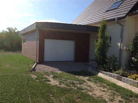 terrasse toit plat et garage attenant abt construction bois