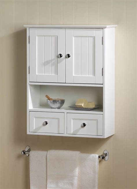 Above Kitchen Cabinet Decor Ideas - small bathroom wall cabinet