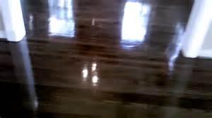 Semi Gloss Finish On Hardwood Floors by Hardwood Red Oak High Gloss Youtube