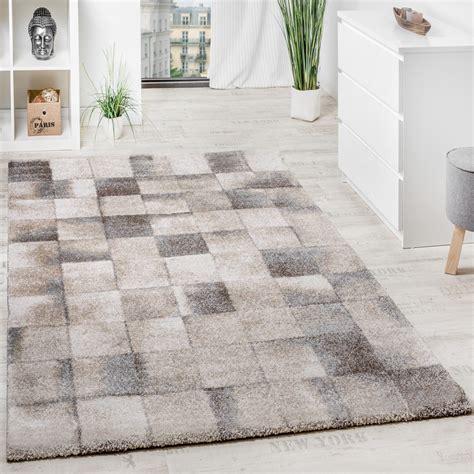 teppich wohnzimmer klein kariert beige grau teppichcenter