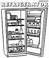 Refrigerator Coloring Pages Stuff sketch template
