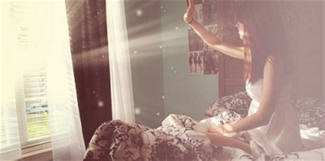 bed flares girl morning sun window image