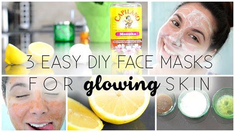 easy diy face masks  glowing skin youtube