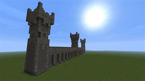 minecraft castle wall designs castle wall w towers and battlements minecraft project