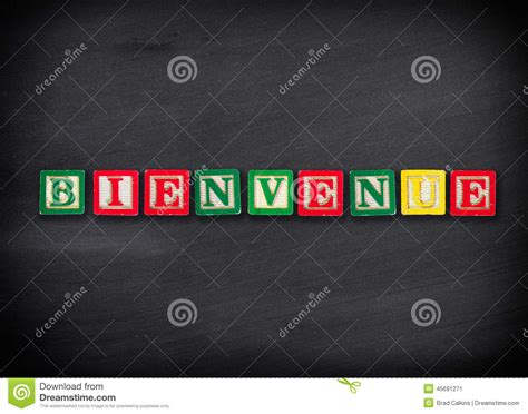 Welcome in French stock image. Image of welcome ...