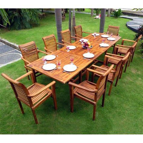 Salon de jardin - grande table et fauteuils en teck huilu00e9 - wood-en-stock