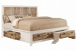 Western Queen Bed with Storage at Gardner-White