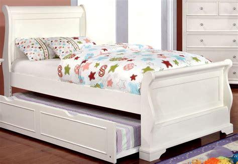 mullan white full sleigh bed  furniture  america