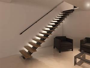 Escalier En Colimaçon Pas Cher : escalier avec lumi re int gr e pas cher stairkaze ~ Premium-room.com Idées de Décoration