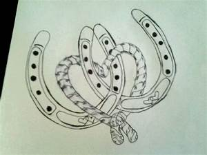 horse shoe tattoos | This Is A Rough Drawing Of My First ...