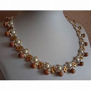 elegant necklace with half tila pinch beads and swarovski With collier mariage swarovski