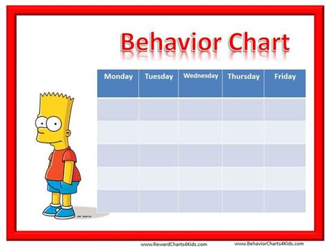 smiley face behavior charts  weekly behaviour charts