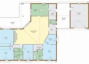 Plan Grande Maison : grande maison de plain pied en 2019 plan maison maison plain pied plan maison et plan ~ Melissatoandfro.com Idées de Décoration