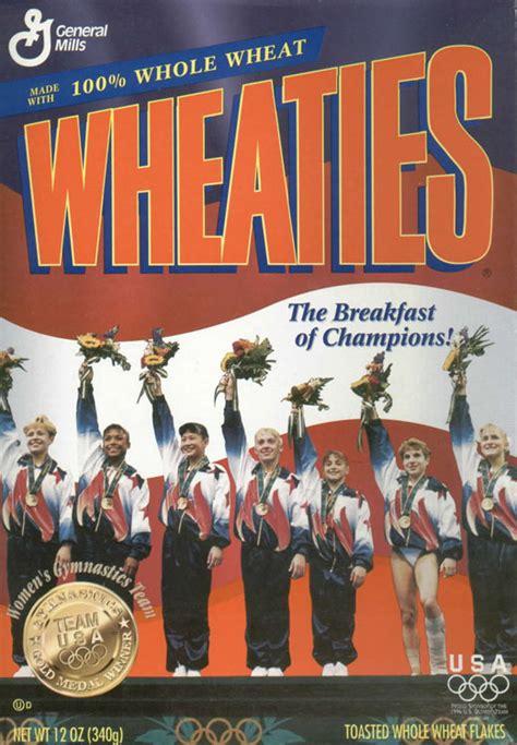 wheaties  wheaties olympic gymnasts box