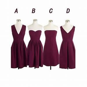 Maroon bridesmaid dresses short bridesmaid dresses cheap for Maroon dresses for wedding