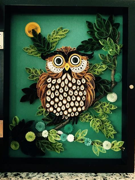 quilled owl owls pinterest owl  quilling