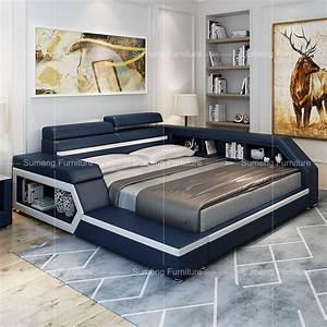 italien vente chaude moderne de luxe en cuir lit avec With tapis moderne avec canapé lit luxe