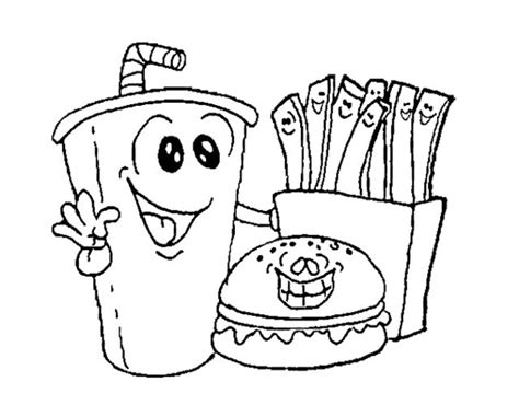 fast food coloring pages coloringsuitecom