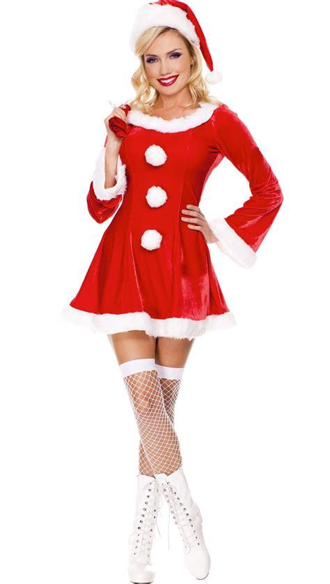 mrs santa velvet costume