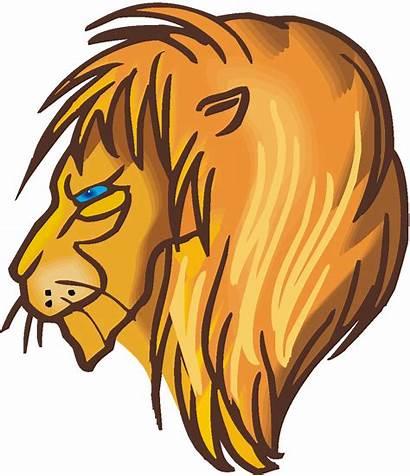 Lion Mane Clipart Clip Face Cliparts Lions