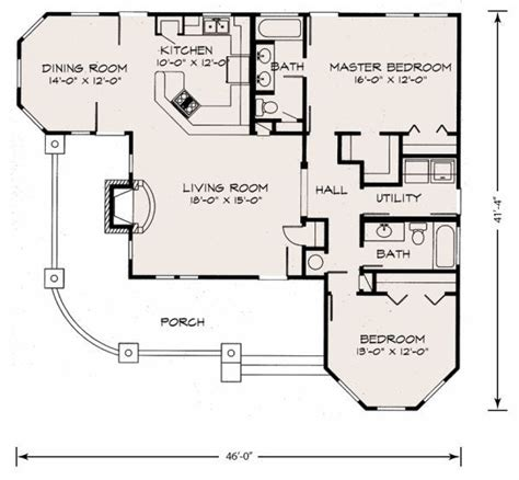 Farmhouse Style House Plan 2 Beds 2 Baths 1270 Sq/Ft
