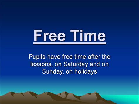 Free time - презентация онлайн