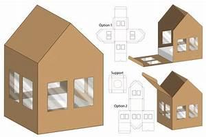 Design De Modelo De Embalagem De Caixa De Forma De Casa
