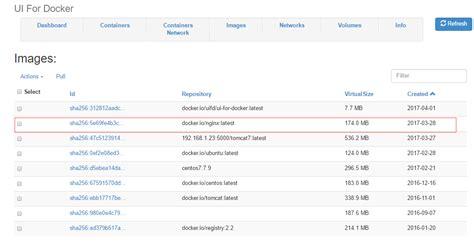 Docker容器学习梳理--web管理工具dockerui部署记录