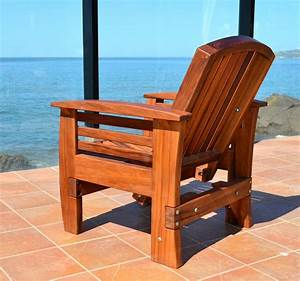 Reclining, Redwood, Easy, Chair, Outdoor, Wood, Recliners
