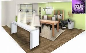Deco cuisine salle a manger salon for Deco cuisine avec salon salle a manger design