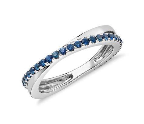 sapphire infinity eternity ring   white gold mm