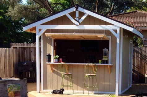 used sheds for how to a bar shed from a backyard garden shed