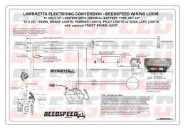 Beedspeed Conversion Wiring Harness Lambretta