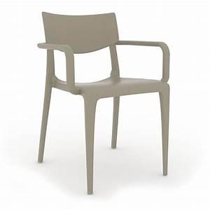 Fauteuil En Plastique : fauteuil d 39 exterieur en injection plastique couleur taupe ~ Edinachiropracticcenter.com Idées de Décoration