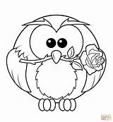 Coloring Owl Pages Rose Printable Owls Colouring Resolution Drawing Paper Animals sketch template