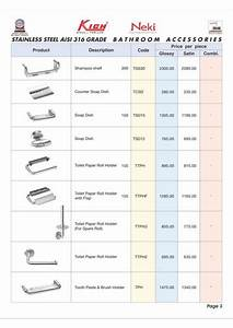 product range of inarch gallery where we provide our With list of accessories in kitchen and bathrooms