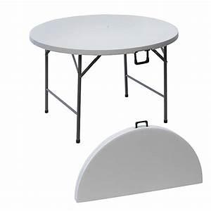 Table Ronde Plastique : table ronde pliante en r sine 122 cm maison fut e ~ Teatrodelosmanantiales.com Idées de Décoration