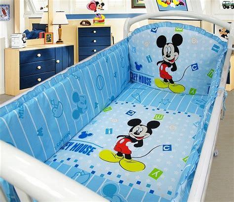 promotion 6 pcs mickey mouse berceau de literie pour b 233 b 233 s tour de lit kit lit autour de la set