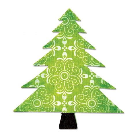 a10195 sizzix bigz die tree christmas tree country