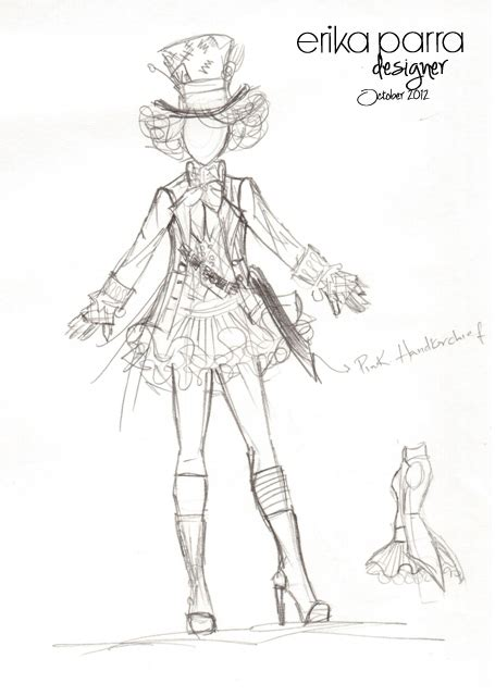 mad hatter costumes sketches