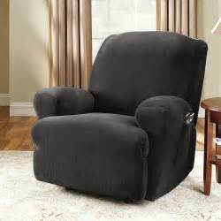 sure fit stretch pinstripe recliner slipcover ebay
