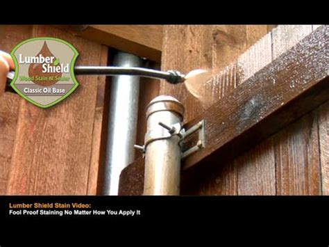 lumber shield wood stain youtube