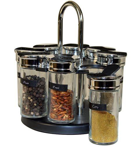 carrousel cuisine carrousel à épices et herbes avec 8 pots en verre