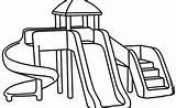 Playground Coloring Pages Park Printable Drawing Simple Apple Sliding Fun Spring Sheets Easy Outdoor Inside Drawings Equipment Learning Learn Paint sketch template