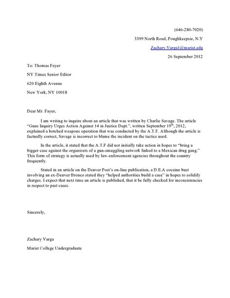 letter to the editor template letter to the editor format exle best template collection