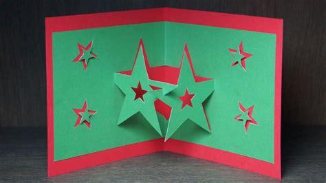 weihnachtskarten vorlagen kostenlos basteln zu weihnachten pop up karten selber sterne
