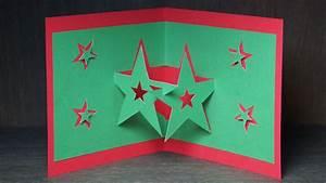 Pop Up Weihnachtskarten : basteln zu weihnachten pop up karten selber basteln pop up sterne karte youtube ~ Frokenaadalensverden.com Haus und Dekorationen