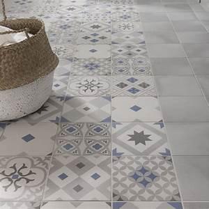 Carrelage Clipsable Exterieur : carrelage sol et mur gris bleu effet ciment gatsby x ~ Premium-room.com Idées de Décoration